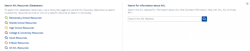 Image of the AVL Search window