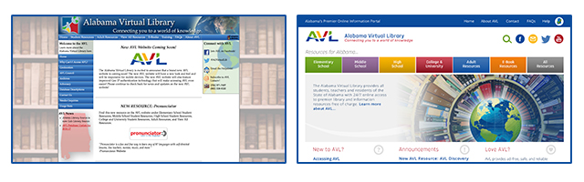 Image of Home Page Before and After