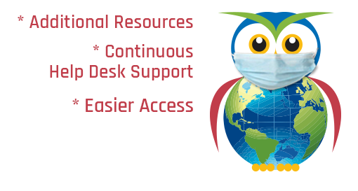AVL Owl with Medical Mask - Additional Resources, Continuous Help Desk Support, Easier Access