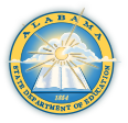Logo image for the Alabama State Department of Education